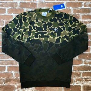 Adidas Camo Crew Fleece Sweatshirt